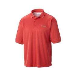 COLUMBIA PERFECT CAST POLO SUNSET_RED