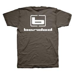 BANDED SIGNATURE S/S TEE BROWN