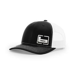 BANDED SIGNATURE TRUCKER SIDE LOGO CAP BLACK/WHITE