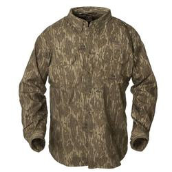 BANDED COTTON BUTTON-UP SHIRT BOTTOMLAND