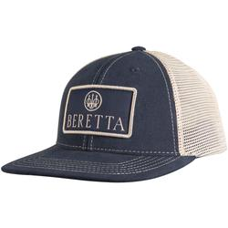 BERETTA FLAT BILL PATCH TRUCKER HAT NAVY/STONE