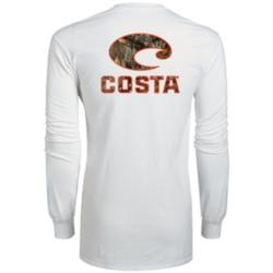 COSTA REALTREE CAMO L/S T-SHIRT WHITE/EDGE