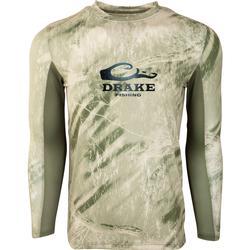 DRAKE SHIELD L/S MESH BACK CREW NECK RT_CRAPPIE/OLIVE