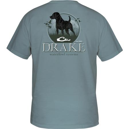DRAKE YOUTH STANDING BLACK LAB S/S T