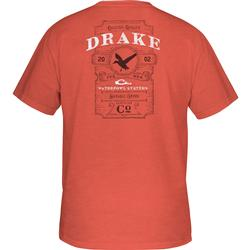 DRAKE YOUTH VINTAGE LOGO S/S T SALMON_HEATHER