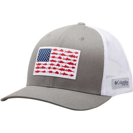 37e6805f7536c COLUMBIA PFG MESH SNAP BACK FISH FLAG BALL CAP