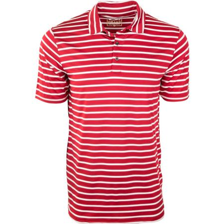DRAKE PERFORMANCE STRETCH STRIPED POLO