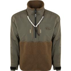 DRAKE MST GUARDIAN FLEX SHERPA FLEECE 1/4 ZIP GREENTIMBER