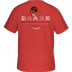 DRAKE PINTAIL HEAD S/S T RED_HEATHER