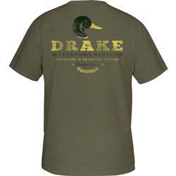 DRAKE GREENHEAD S/S T MILITARY_HEATHER