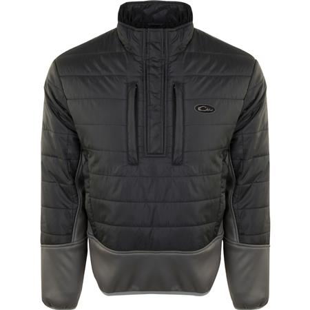 DRAKE TWO-TONE SYNTHETIC DOUBLE-DOWN 1/4 ZIP