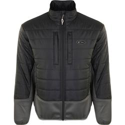 DRAKE TWO-TONE SYNTHETIC DOUBLE-DOWN FULL ZIP BLACK/CHARCOAL