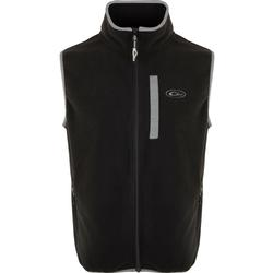 DRAKE CAMP FLEECE VEST BLACK/CHARCOAL