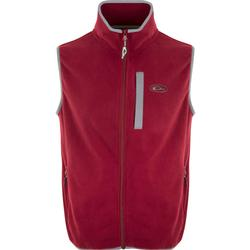 DRAKE CAMP FLEECE VEST MAROON/CHARCOAL