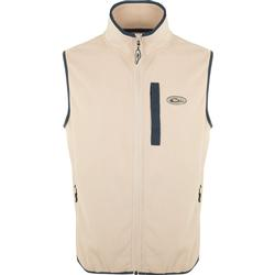 DRAKE CAMP FLEECE VEST OATMEAL/NAVY