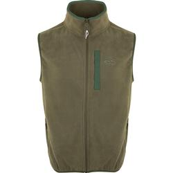 DRAKE CAMP FLEECE VEST OLIVE/DARK_GREEN