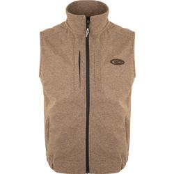 DRAKE HEATHER WINDPROOF LAYERING VEST BROWN/HEATHER