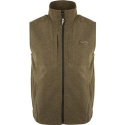 DRAKE HEATHER WINDPROOF LAYERING VEST OLIVE/HEATHER
