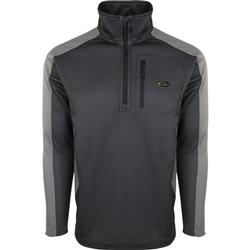 DRAKE BREATHELITE 2.0 1/4 ZIP PULLOVER BLACK/CHARCOAL