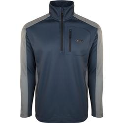 DRAKE BREATHELITE 2.0 1/4 ZIP PULLOVER BLUE_NIGHT/CHARCOAL