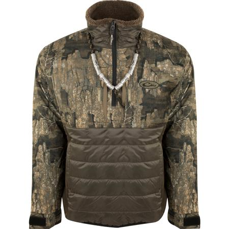 DRAKE LST GUARDIAN FLEX DOUBLE DOWN 1/4 ZIP