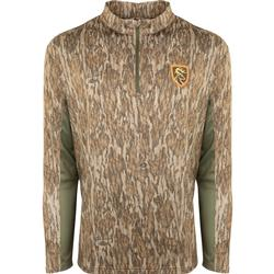 DRAKE NT PERFORMANCE CREW 1/4 ZIP BOTTOMLAND