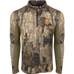 DRAKE NT PERFORMANCE CREW 1/4 ZIP TIMBER