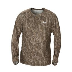 BANDED TECH STALKER MOCK SHIRT BOTTOMLAND