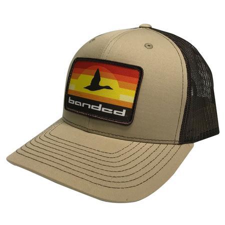 BANDED AUTUMN LINES PATCH CAP