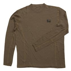 BANDED BASE WOOL 230GR CREW TOP L/S CHOCOLATE