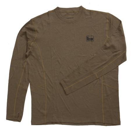 BANDED BASE WOOL 230GR CREW TOP L/S