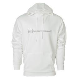 BANDED B LOGO HOODIE WHITE