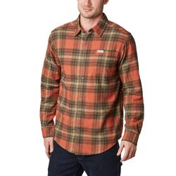 COLUMBIA BOULDER RIDGE L/S FLANNEL CARNELIAN_RED/OMBRE
