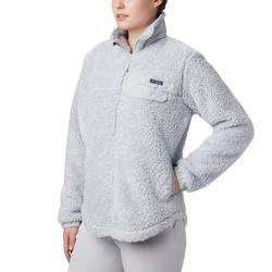 COLUMBIA W`S HARBORSIDE II HEAVY WEIGHT FLEECE FULL ZIP CIRRUS_GREY