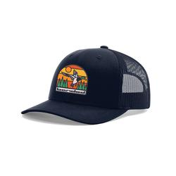 BANDED THICK LINES PATCH CAP NAVY/NAVY