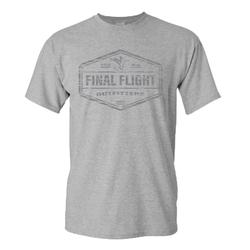 FINAL FLIGHT LOGO BADGE S/S GREY_HEATHER