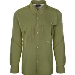 DRAKE YTH FLYWEIGHT WINGSHOOTERS L/S SHIRT LIGHT_OLIVE