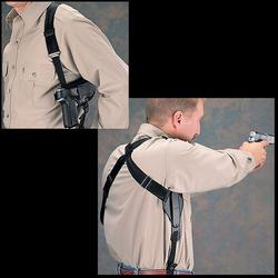 UNCLE MIKE`S SHOULDER HOLSTER BLK_CROSS