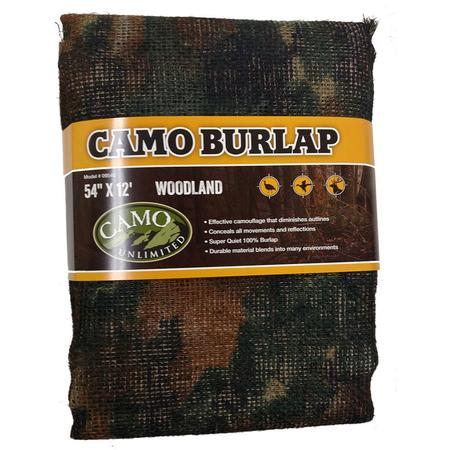 CAMO UNLIMITED BURLAP 54 INCH X 12`