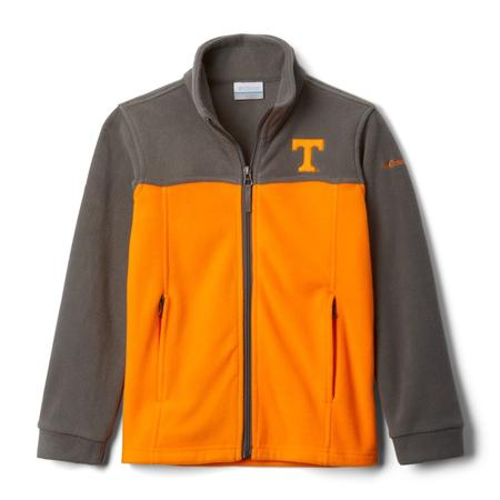 COLUMBIA YTH COLLEGIATE FLANKER II FULL ZIP FLEECE