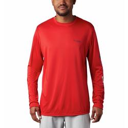 COLUMBIA TERMINAL TACKLE PFG L/S SHIRT RED_SPARK/AMERICANA