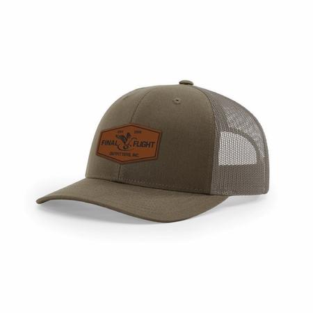 FLIGHT 115 LEATHER PATCH MESH BACK HAT