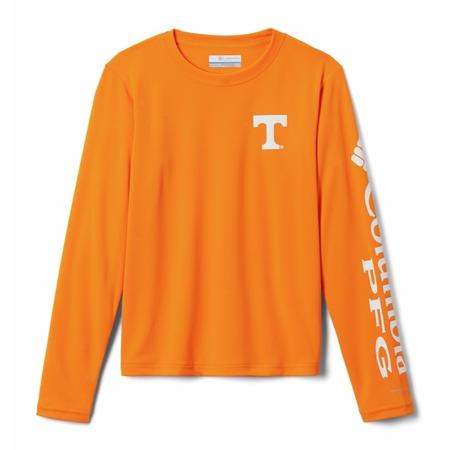 COLUMBIA YTH COLLEGIATE TERMINAL TACKLE L/S