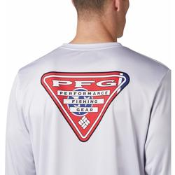 COLUMBIA TERMINAL TACKLE PFG STATE TRIANGLE L/S COOL_GREY/TENNESSEE