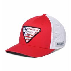 COLUMBIA PFG MESH STATESIDE BALL CAP RED/USA_TRIANGLE