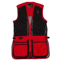 BROWNING JR TRAPPER CREEK SHOOTING VEST BLACK/RED