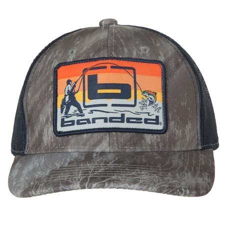 BANDED SUNSET FISHING TRUCKER CAP