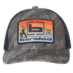 BANDED SUNSET FISHING TRUCKER CAP RT_GRAY/NAVY