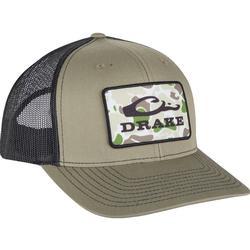 DRAKE OLD SCHOOL PATCH MESH BACK CAP LODEN/BLACK