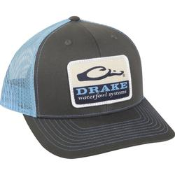 DRAKE WATERFOWL SYSTEMS MESH BACK CAP CHARCOAL/SKY_BLUE